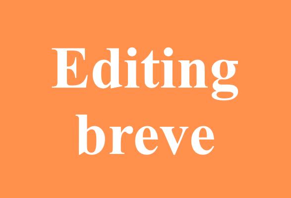 editing breve